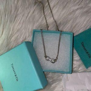 Auth. Tiffany Infinity Pendant necklace - full set